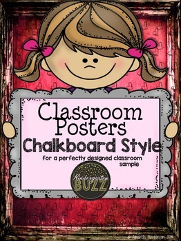 Classroom Posters Chalkboad Style SAMPLE
