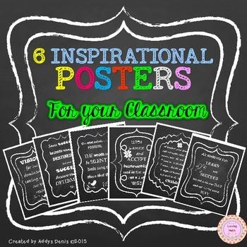 Classroom Posters Chalkboard
