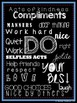 Classroom Posters Chalkboard Style Set of 5