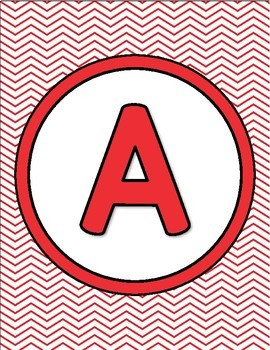 Chevron Alphabet Posters, Numbers 1-20 Posters