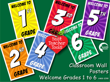 Classroom Posters, Classroom Welcome, Back to School, Printable, AMB-1098