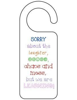 Classroom Posters/ Door Hangers
