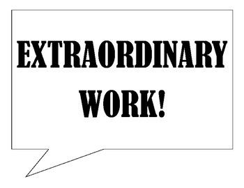 Classroom Posters - Extraordinary Work & Cool Cat Words (Vocabulary)