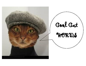 Classroom Posters - Extraordinary Work & Cool Cat Words (V