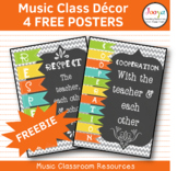 Music Class Decor - Classroom Rules Posters