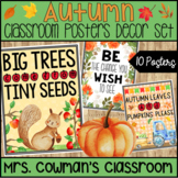Classroom Posters: Fall Inspirational Decor