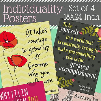 Classroom Posters: Individuality Theme
