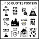 Classroom Posters - Inspirational Quotes (Black and White Explorer Theme)