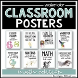 Classroom Posters - Inspirational Quotes - MATH Edition (Watercolor)