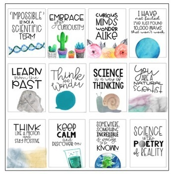 Classroom Posters - Inspirational Quotes - SCIENCE Edition ...