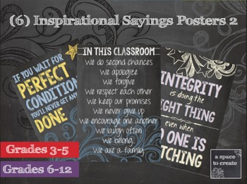 Classroom Posters, Inspirational Sayings 2