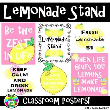 Classroom Posters (Lemonade Stand Theme)