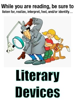 Classroom Posters - Literary Devices with images and definitions