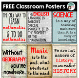Classroom Posters - Math, Science, English, Geography & More