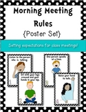 {Morning Meeting} Setting Expectations Classroom Posters f