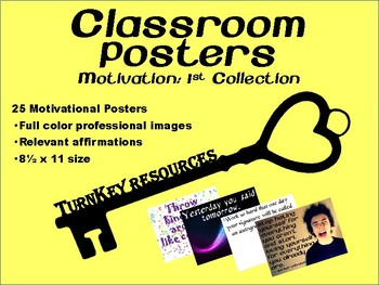 Classroom Posters: Motivation - 1st Collection