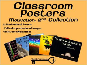 Classroom Posters: Motivation - 2nd Collection