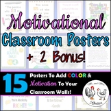 Classroom Posters - {13 Motivational Posters + 2 Bonus} Decor