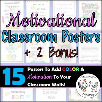 Classroom Posters - {13 Motivational Posters + 2 Bonus} Decor