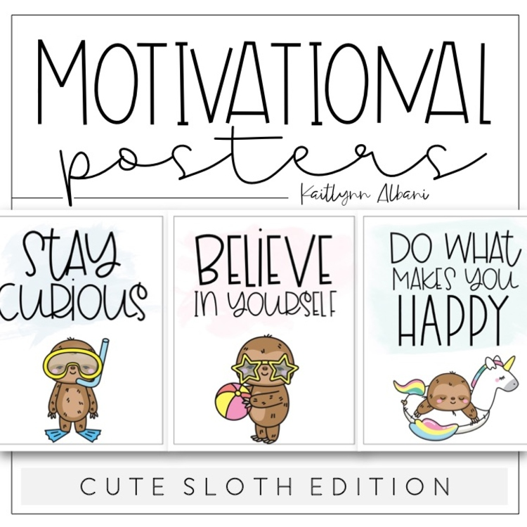 Motivational Quotes [Cute Sloth