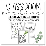 Classroom Posters | Motivational Signs | Back to School