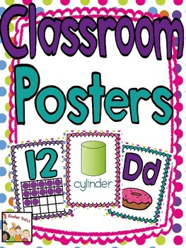 Classroom Posters- Numbers, Alphabet, Shapes