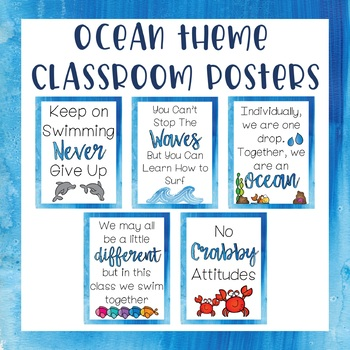 Classroom Posters - Ocean Theme