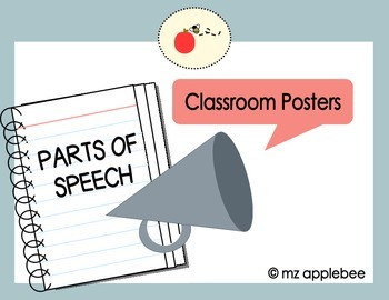 Classroom Posters: Parts of Speech