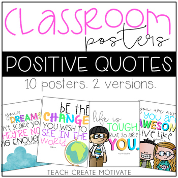 Classroom Posters | Positive Quotes