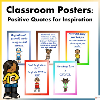 Classroom Posters: Positive Quotes for Inspiration