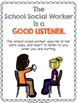 Classroom Posters: Role of the School Counselor/Social Wor