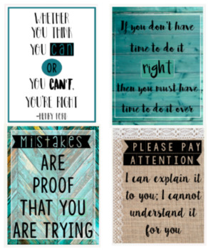 Classroom Posters Set of 4