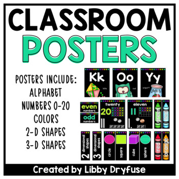Classroom Posters - Sketchy Dots