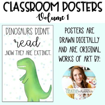 Classroom Posters Volume 1- Growth Mindset, Positivity, and Classroom Decor