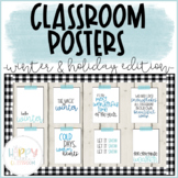 Winter/Holiday-themed Classroom Posters