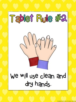 Free Classroom Posters for Tablet Rules