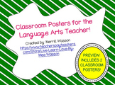 Classroom Posters for the Language Arts Teacher! Sample