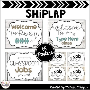 Classroom Posters in Bright Colors, Black & White or Shiplap