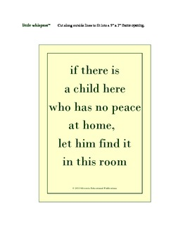 "Posters for Your Classroom: little whispers(tm) ""Hopes and"
