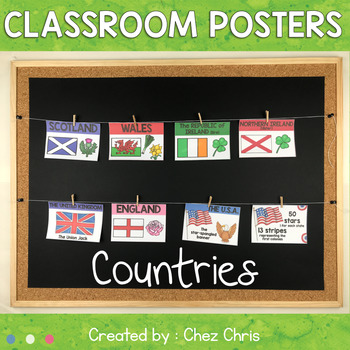 Classroom Posters: the United Kingdom / the Republic of Ireland & the USA