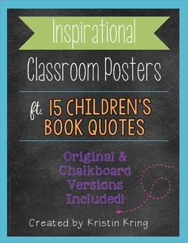 Classroom Posters with Children's Book Quotes
