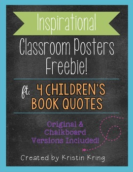 Classroom Posters with Children's Book Quotes FREEBIE