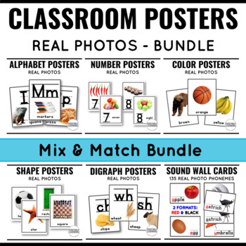 Classroom Posters with Real Photos
