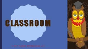 The Blue Cloud Bubble ESL Power Point Lesson-Classroom