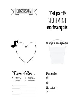 Classroom Praise Sticky Note Templates for French Teachers