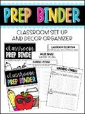 Classroom Prep Binder: Classroom decor and setup organizer