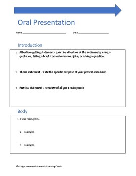 Classroom Presentation Outline