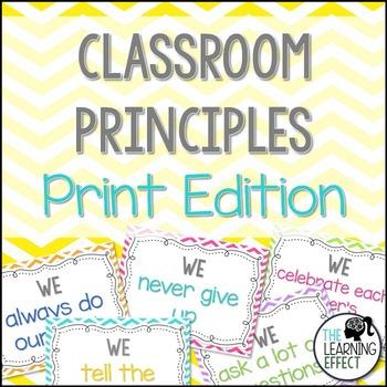 Classroom Principles Posters