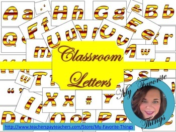 Classroom Printable Letters Fall/Warm Colors