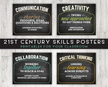 Classroom Printable Posters, 21st Century Skills (Communication, Creativity)